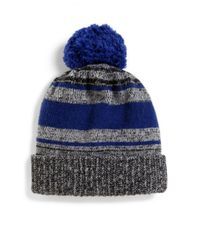 Saks Fifth Avenue - Blue Marled Knit Wool-blend Hat for Men - Lyst