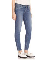 PAIGE - Blue Verdugo Transcend Ankle Skinny Jeans - Lyst
