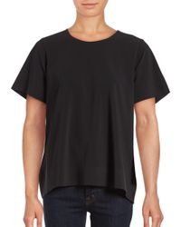 Cinq À Sept - Black Solid Piper Top - Lyst
