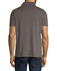 Saks Fifth Avenue - Black Printed Short-sleeve Cotton Polo for Men - Lyst