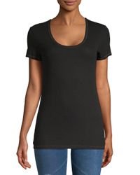 Splendid - Black Slim Fit Crew Neck Tee - Lyst