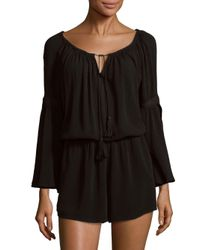 L*Space - Black Spirit Bell Sleeve Romper - Lyst