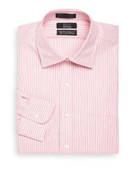 Saks Fifth Avenue Black - Pink Classic-fit Multi-stripe Dress Shirt for Men - Lyst