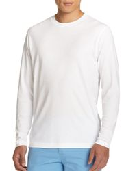 Saks Fifth Avenue - White Long-sleeved Tee for Men - Lyst