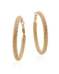 Saks Fifth Avenue - Metallic Mesh Hoop Earrings/goldtone - Lyst