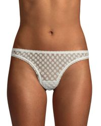 Eberjey - Brown Love Always Thong - Lyst