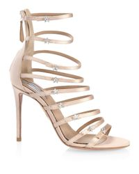 Aquazzura Multicolor Claudia Schiffer For Crystal Star Sandals