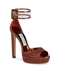 Jimmy Choo - Red Mayner Ankle-strap Pumps - Lyst