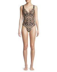 Carmen Marc Valvo - Multicolor One-piece Printed Swimsuit - Lyst