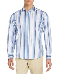 Robert Graham - Blue Classic-fit Beauly Striped Cotton Sportshirt for Men - Lyst