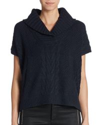 Saks Fifth Avenue | Blue Mixed-knit Sweater | Lyst