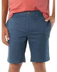 Tailor Vintage - Blue Stretch Shorts for Men - Lyst