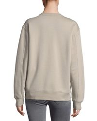 Balenciaga - Natural Dropped Shoulder Cotton Pullover - Lyst