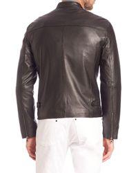 John Varvatos - Black Lamb Skin Moto Jacket for Men - Lyst