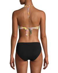 Pilyq - Natural Reversible Paisley-print Bikini Top - Lyst