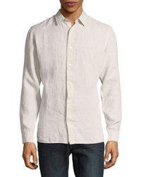 Vince - Natural Melrose Cotton Casual Shirt for Men - Lyst
