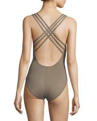 La Blanca - Multicolor One-piece Strappy Swimsuit - Lyst