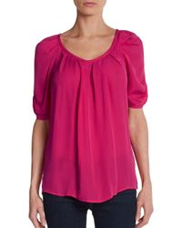 24530f745d1123 Joie Eleanor Silk Bow-back Blouse in Pink - Lyst