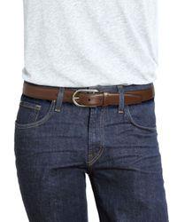 Bally - Brown Calf Leather & Metal Belt - Lyst