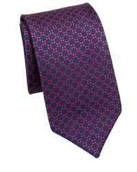 Saks Fifth Avenue - Purple Collection Double Face Geometric Silk Tie for Men - Lyst