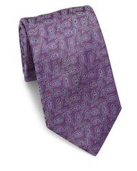 Eton of Sweden - Purple Paisley Silk Tie for Men - Lyst