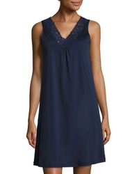 Hanro - Blue Moments Tank Gown - Lyst