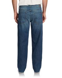 7 For All Mankind - Blue Austyn Faded Relaxed Straight-leg Jeans for Men - Lyst