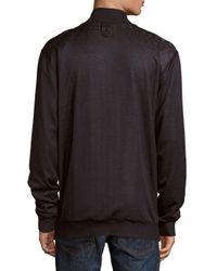 Billionaire - Black Raw Silk Zipper Jacket for Men - Lyst