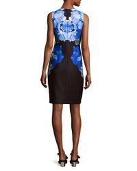 CALVIN KLEIN 205W39NYC - Black Scuba Sheath Dress - Lyst