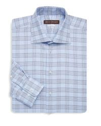 Hickey Freeman - Blue Classic-fit Cotton Dress Shirt for Men - Lyst