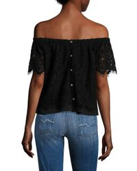 Generation Love - Black Carly Lace Off-the-shoulder Top - Lyst