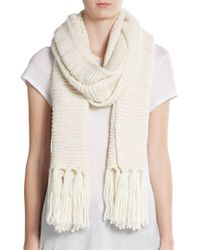 Vince Camuto - Natural Dropped Stitch Scarf - Lyst