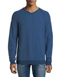 Tommy Bahama - Blue Raglan-sleeve Cotton Sweater for Men - Lyst