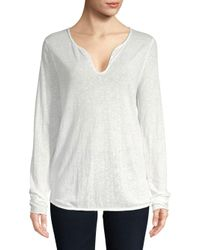 Zadig & Voltaire - White Tunisien Lace Top - Lyst