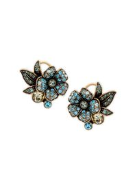 Heidi Daus - Blue Bouquet Of Flowers Crystal Stud Earrings - Lyst