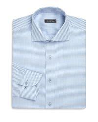 Saks Fifth Avenue - Blue Regular-fit Check Cotton Dress Shirt for Men - Lyst