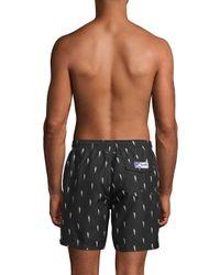 Trunks Surf & Swim - Black Lightning Bolt Swim Shorts for Men - Lyst