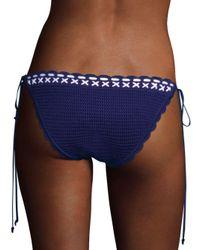 Shoshanna - Blue Crochet Bikini Bottom - Lyst