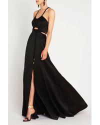 Sass & Bide - Black White Keys Maxi Dress - Lyst