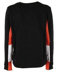 KENZO - Black Logo Embroidered Sweatshirt for Men - Lyst