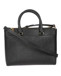 Tory Burch - Black Robinson Small Double-zip Tote - Lyst