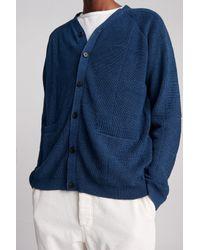 Saturdays NYC - Blue Jacob Window Pane Cardigan for Men - Lyst