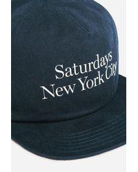 Saturdays NYC - Blue Stanley Washed Miller Hat for Men - Lyst