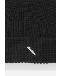 Saturdays NYC - Black Waffle Crepe Beanie for Men - Lyst