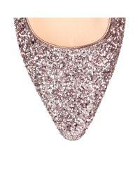 Jimmy Choo - Romy Flat Pink Glitter Ballerina Us - Lyst