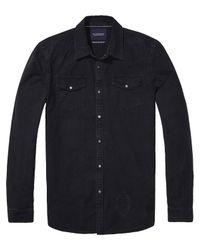 Scotch & Soda - Black Amsterdams Blauw Shirt for Men - Lyst