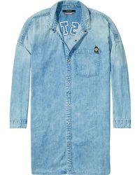 Scotch & Soda - Blue Oversized Denim Shirt - Lyst