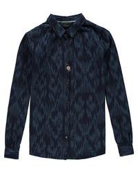 Scotch & Soda - Blue Ikat Shirt - Lyst