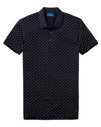 Scotch & Soda - Blue Mercerized Jersey Polo for Men - Lyst