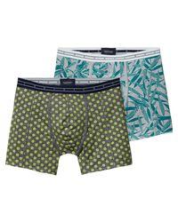 Scotch & Soda | Blue 2-pack Melange Boxer Shorts for Men | Lyst